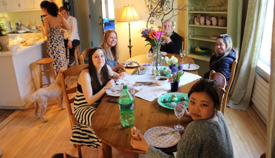 Friendly argentinian homestay family with students