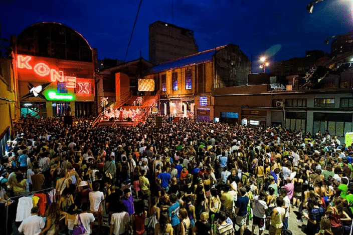 large crowd at live music event