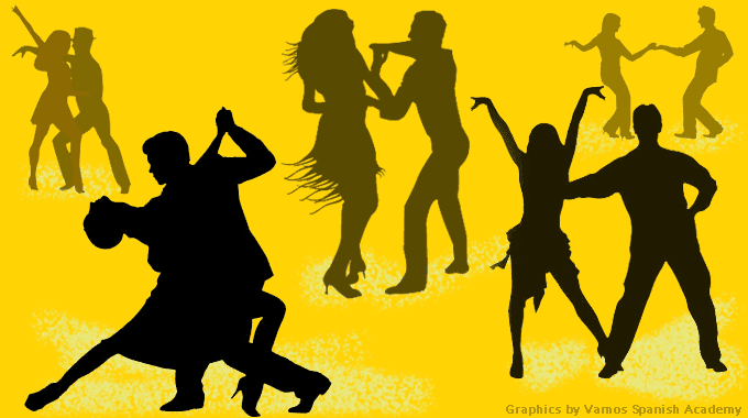 outline of people dancing